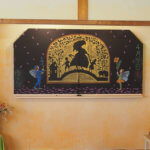月ごとに描かれる黒板の絵